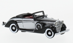 Modelcar - <strong>Maybach</strong> SW 38 Convertible Spohn, black/light grey, 1937<br /><br />BoS-Models, 1:87<br />No. 229400