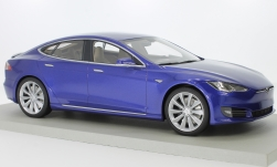 Modelcar - <strong>Tesla</strong> Model S Facelift, metallic-blue<br /><br />Lucky Step Models, 1:18<br />No. 229602