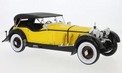 Modelcar - <strong>Mercedes</strong> Typ S 26/180 Sport-Viersitzer Buhne, yellow/black, RHD, 1928<br /><br />CMF, 1:18<br />No. 229898