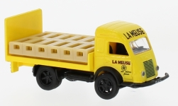 Modelcar - <strong>Renault</strong> Galion Brasseur, yellow, with material loaded Getränkekisten, 1963<br /><br />Norev, 1:87<br />No. 230147