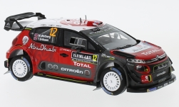 Modelcar - <strong>Citroen</strong> C3 WRC, No.12, Citroen total Abu Dhabi World Rally team, Rallye WM, Rallye Sweden, M.Ostberg/T.Eriksen, 2018<br /><br />Spark, 1:43<br />No. 230165