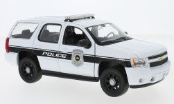 Modellauto - <strong>Chevrolet</strong> Tahoe, weiss, General Motors Police Vehicles, 2008<br /><br />Welly, 1:24<br />Nr. 230530