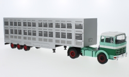 Modelcar - <strong>Mercedes</strong> LPS 1632, green/white, cattle transporter, 1970<br /><br />IXO, 1:43<br />No. 231023