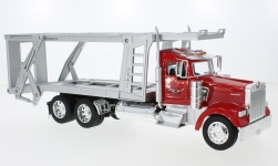Modelcar - <strong>Kenworth</strong> W900, red/silver, catransporter<br /><br />Welly, 1:32<br />No. 231039
