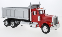 Modelcar - <strong>Peterbilt</strong> 379, red/grey, dump truck<br /><br />Welly, 1:32<br />No. 231041