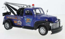 Modelcar - <strong>Chevrolet</strong> 3800, metallic-blue/black, Highway 66 garage, towing automobile, 1953<br /><br />Welly, 1:24<br />No. 231045