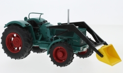 Modellauto - <strong>Hanomag</strong> Robust 900, grün, mit Frontlader<br /><br />Schuco, 1:32<br />Nr. 231123