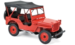 Modelcar - <strong>Jeep</strong> Willys, red, 1942<br /><br />Norev, 1:18<br />No. 231187