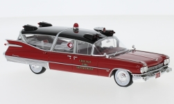 Modellauto - <strong>Cadillac</strong> Superior Ambulance, rot, Chicago Fire Department, 1959<br /><br />Neo, 1:43<br />Nr. 231304