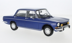 Modelcar - <strong>Simca</strong> 1501 Special, metallic-blue, with yellow fog lights, 1974<br /><br />BoS-Models, 1:18<br />No. 231495