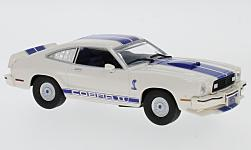 Modellauto - <strong>Ford</strong> Mustang II Cobra II, beige/blau, Charlies Angels, 1976<br /><br />Greenlight, 1:43<br />Nr. 231507