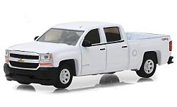 Modellauto - <strong>Chevrolet</strong> Silverado 1500, weiss, 2018<br /><br />Greenlight, 1:64<br />Nr. 231580
