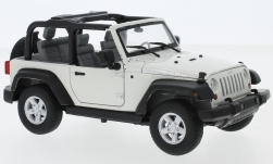 Modelcar - <strong>Jeep</strong> Wrangler Rubicon, white, 2007<br /><br />Welly, 1:24<br />No. 231681