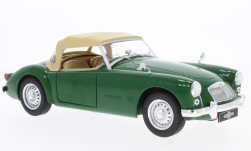 Modellauto - <strong>MGA</strong> MKI Twin Cam Closed Softtop, groen/beige, RHD, 1959<br /><br />Triple 9 Collection, 1:18<br />Nr. 231834