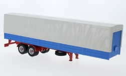 Modelcar - <strong>Auflieger</strong> flatbed platform trailer with cover, grey/blue<br /><br />IXO, 1:43<br />No. 231859