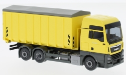 Modelcar - <strong>MAN</strong> TGX Euro 6c, light yellow, rolling container<br /><br />Wiking, 1:87<br />No. 231994
