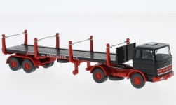 Modelcar - <strong>Mercedes</strong> 1620, Eisen- and Stahlhandel A.G., flat beded trailer with stacks<br /><br />Wiking, 1:87<br />No. 232000