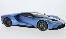 Modelcar - <strong>Ford</strong> GT, metallic-blue/white, 2017<br /><br />GT Spirit, 1:18<br />No. 232046