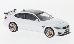 Modelcar - <strong>BMW</strong> M4 GTS, white, with orange wheel rim, 2016<br /><br />Minichamps, 1:87<br />No. 232113