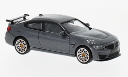 Modelcar - <strong>BMW</strong> M4 GTS, metallic-grey, with orange wheel rim, 2016<br /><br />Minichamps, 1:87<br />No. 232115