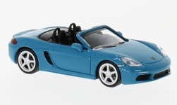 Modelcar - <strong>Porsche</strong> 718 Boxster, turquoise/blue, 2016<br /><br />Minichamps, 1:87<br />No. 232117