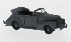 voiture miniature - <strong>Opel</strong> capitaine cabriolet, gris mat, Wehrmacht, 1940<br /><br />BoS-Models, 1:87<br />N° 232139