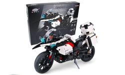 Modelcar - <strong>Dream-Bike</strong> Patrol Motorcycle, white, Bausteine, Anzahl the Blöcke: 1075<br /><br />Xingbao<br />No. 232194