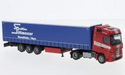 Modellauto - <strong>Mercedes</strong> Actros2 Big. Aerop., Pöttmesser, G-KSZ<br /><br />AWM, 1:87<br />Nr. 232211