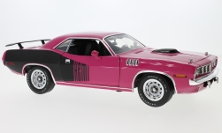 Modellauto - <strong>Plymouth</strong> HEMI Cuda, roze/zwart, Gone in 60 Seconds<br /><br />Highway 61, 1:18<br />Nr. 232387