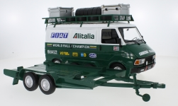 Modelcar - <strong>Fiat</strong> 242 with trailer, Fiat Alitalia Rally team (Assistance), 1979<br /><br />IXO, 1:18<br />No. 232528