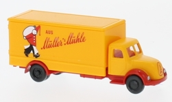 Modellauto - <strong>Magirus</strong> Koffer-LKW, Müllers Mühle<br /><br />Wiking, 1:160<br />Nr. 232561