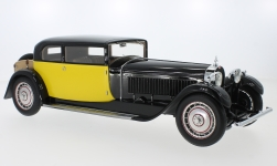 voiture miniature - <strong>Bugatti</strong> Type 41 Royale Coach by Weymann, noire/jaune, RHD, 1929<br /><br />CMF, 1:18<br />N° 232563