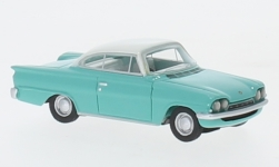 Modellauto - <strong>Ford</strong> Consul Driekwartsbroek GT, turkoois/wit, RHD, 1963<br /><br />BoS-Models, 1:87<br />Nr. 232693