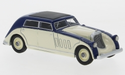 Modelcar - <strong>Maybach</strong> Zeppelin DS8 streamliner Spohn, dark blue/beige, 1932<br /><br />BoS-Models, 1:87<br />No. 232696