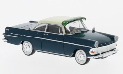 Modelcar - <strong>Opel</strong> Rekord P2 Coupe, blue/beige, with sun shade<br /><br />Brekina, 1:87<br />No. 232733