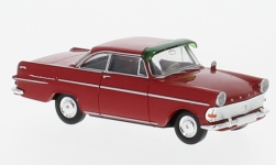 Modelcar - <strong>Opel</strong> Rekord P2 Coupe, red, with sun shade<br /><br />Brekina, 1:87<br />No. 232734