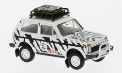 Modelcar - <strong>Lada</strong> Niva, Namib Tours, with roof luggage<br /><br />Brekina, 1:87<br />No. 232761