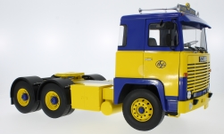 Modelcar - <strong>Scania</strong> LBT 141, yellow/blue, 1976<br /><br />Road Kings, 1:18<br />No. 232767
