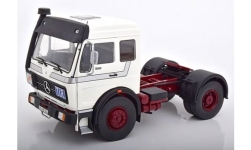 Modellauto - <strong>Mercedes</strong> NG 1632, wit/purper, 1973<br /><br />Road Kings, 1:18<br />Nr. 232801