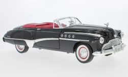 Modellauto - <strong>Buick</strong> Roadmaster Convertible, schwarz/rot, 1949<br /><br />Motormax, 1:18<br />Nr. 233059