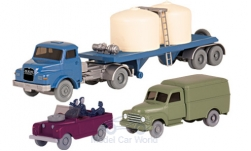 Modelcar - <strong>Set</strong> Wiking-Traffic-models 76:, Hanomag L28 box wagon, Land Rover with figures and MAN Chemikalien-SZ<br /><br />Wiking / PMS, 1:87<br />No. 233083