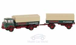 Modelcar - <strong>Krupp</strong> 806 truck with trailer, Veltins, Series 800<br /><br />Wiking / PMS, 1:87<br />No. 233088