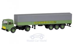 Modelcar - <strong>MAN</strong> flatbed platform trailer, Schenker, Series 800<br /><br />Wiking / PMS, 1:87<br />No. 233090