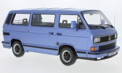Modelcar - <strong>Porsche</strong> B32, metallic-light blue, on Basis Volkswagen VW T3 bus, 1984<br /><br />KK-Scale, 1:18<br />No. 233136