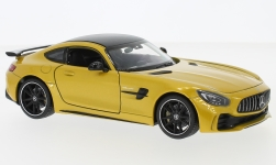 Modelcar - <strong>Mercedes</strong> AMG GT R, metallic-yellow<br /><br />Welly, 1:24<br />No. 233345