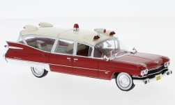 Modelcar - <strong>Cadillac</strong> Miller-Meteor, red/beige, Ambulance, without showcase, 1959<br /><br />SpecialC.-112, 1:43<br />No. 233417