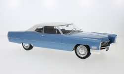 Modelcar - <strong>Cadillac</strong> DeVille Convertible, metallic-light blue/white, with Softtop, 1968<br /><br />KK Scale, 1:18<br />No. 233459