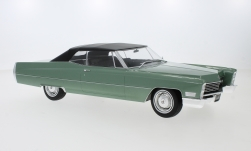 Modelcar - <strong>Cadillac</strong> DeVille Convertible, metallic-light green/black, with Softtop, 1968<br /><br />KK Scale, 1:18<br />No. 233460