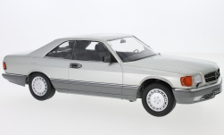 Modellauto - <strong>Mercedes</strong> 560 SEC (C126), silber, 1985<br /><br />KK Scale, 1:18<br />Nr. 233466