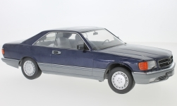 Modellauto - <strong>Mercedes</strong> 560 SEC (C126), metallic-blau<br /><br />KK Scale, 1:18<br />Nr. 233467